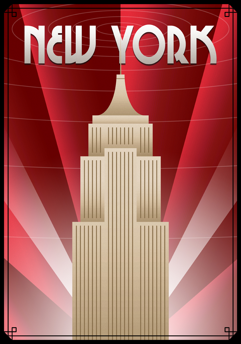 Art Deco Poster New York.New York Poster By Ollywood On Deviantart
