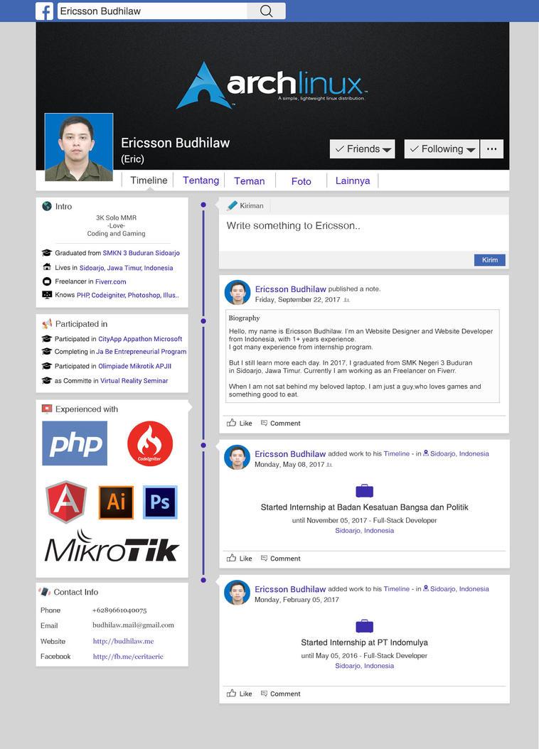 resume cv facebook style by crussider on deviantart