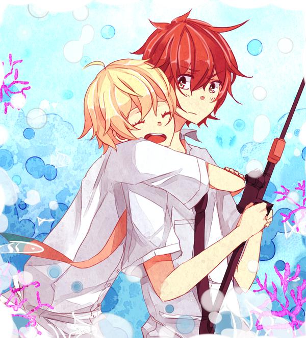 Hug by flanpu on deviantart - Anime hug pics ...