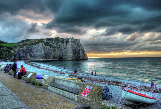 Evening at Etretat