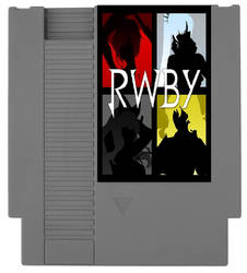 RWBY NES Game Cartridge