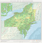 Physical Map of New Netherland in the Present Day