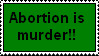 Abortion Stamp by pickles-r-nummy