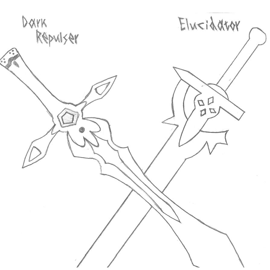Kirito 39 S Swords Sword Art Online By Kirito23 On Deviantart