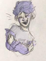 uwu i drew him happy for once by DoodlyDoodlerDoo