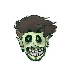 spooky face boy by DoodlyDoodlerDoo