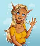 Scribble elf by KiffArt