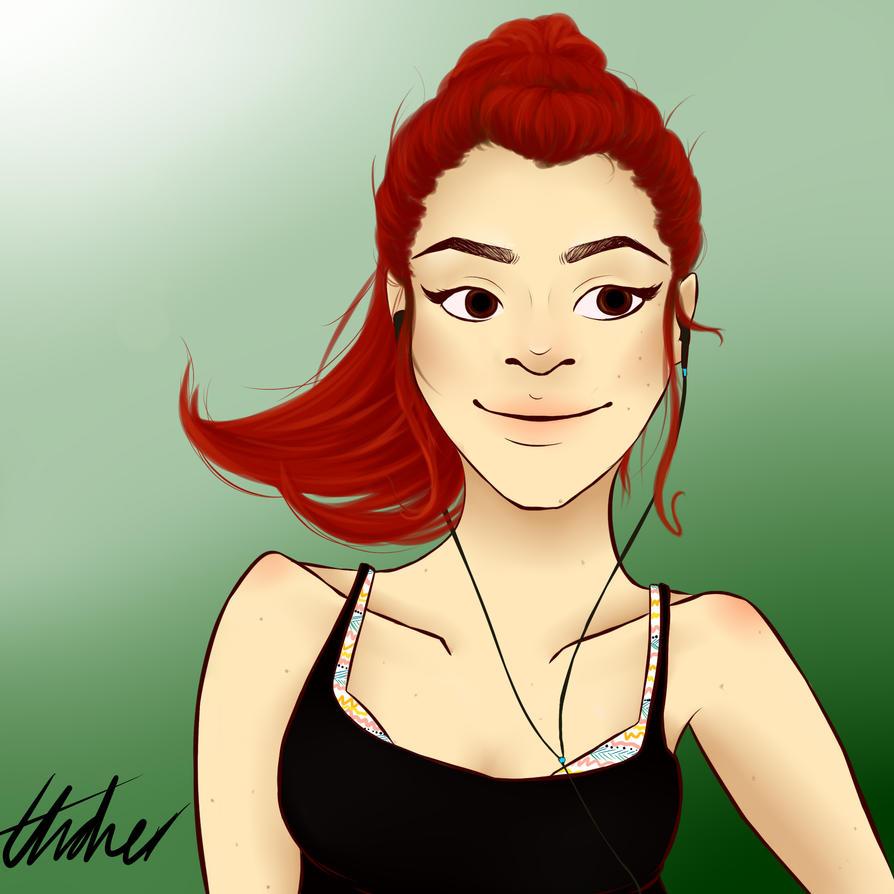 Self Portrait (new profile picture) by ElzieA19