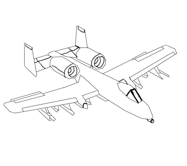 A10 Thunderbolt II Lineart By Bloodwolf23 On DeviantART