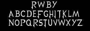 RWBY Font