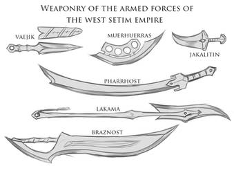 Random Sketches Chap. 167: West Setim Weapons by Lightning-in-my-Hand