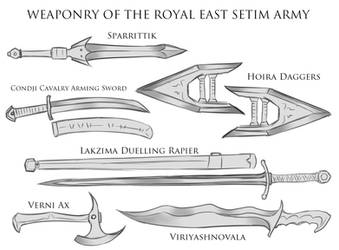 Random Sketches Chap. 172: Weapons Of East Setim by Lightning-in-my-Hand