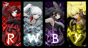 RWBY - BlazBlue Cross Tag Battle CG Poster by Lightning-in-my-Hand