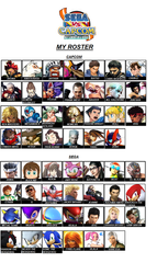 MY CAPCOM VS SEGA ROSTER by danilo11