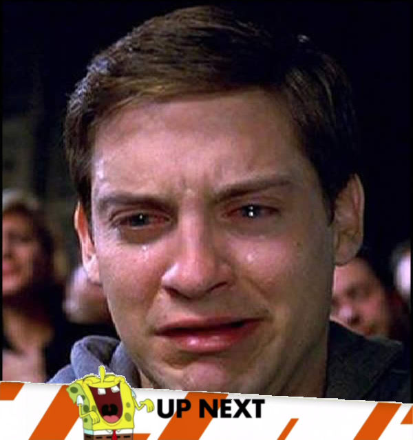 Spongebob Banner Peter cry