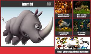 Rambi SSb Moveset by danilo11