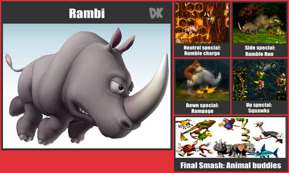Rambi SSb Moveset