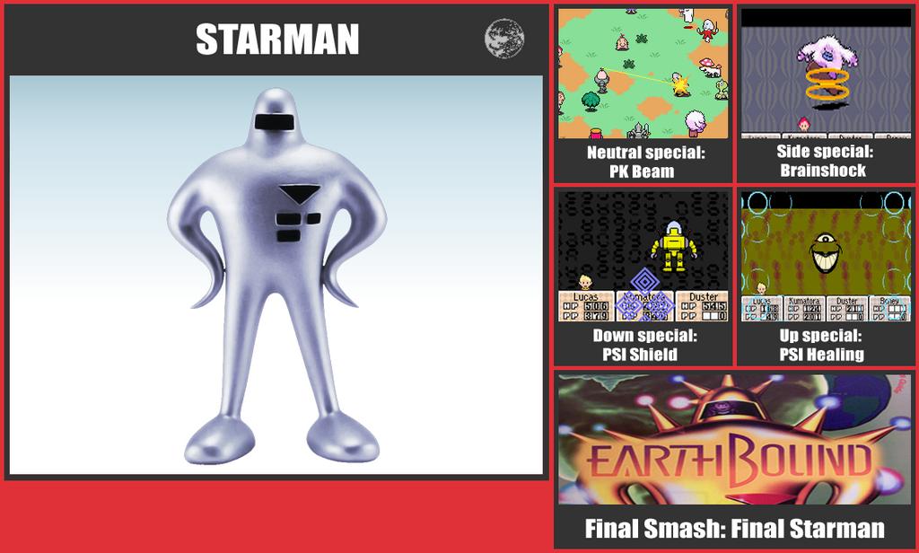 Starman SSB Moveset by danilo11