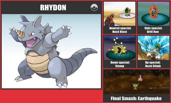 Rhydon SSB Moveset by danilo11