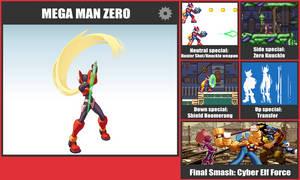 Mega Man Zero SSB Moveset by danilo11