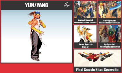 Yun/Yang SSB Moveset by danilo11