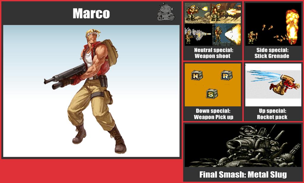Marco SSB Moveset by danilo11
