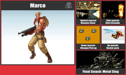 Marco SSB Moveset by danilo11