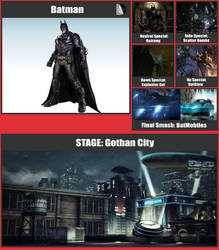 Batman SSB Moveset