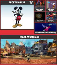 Mickey SSB Moveset
