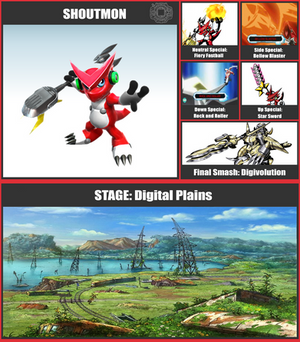 Shoutmon SSB Moveset