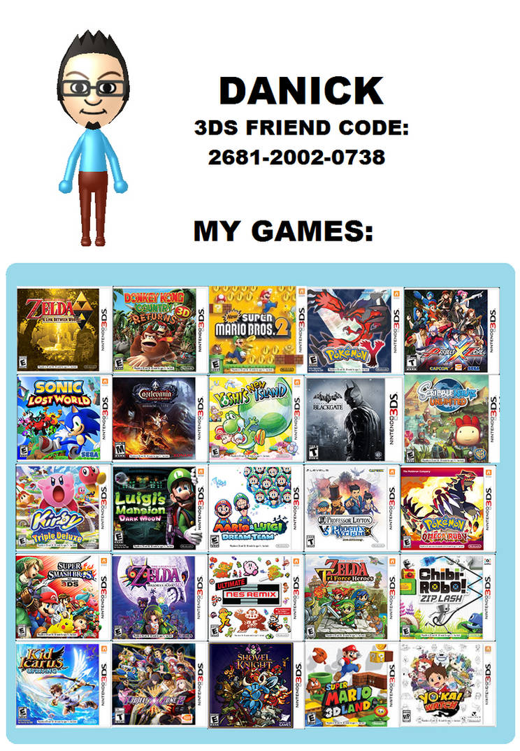 My 3DS friend code by danilo11