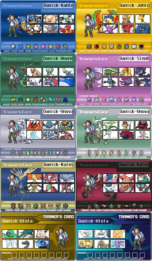 My Pokemon team for every region by danilo11