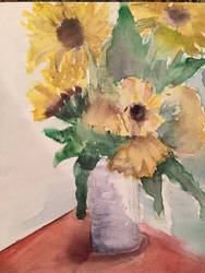 watercolor flowers by itslalalalauryn
