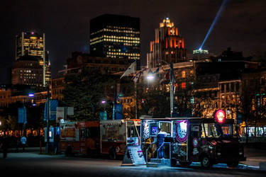 Food truck downtown Montreal