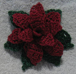 Mini Poinsettia crochet.