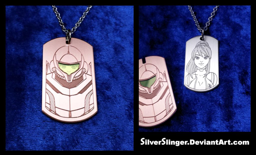 Samus Pendant (With Detachable Power Suit) by SilverSlinger