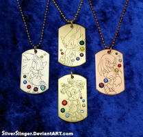 Seven Emeralds Pendant Series
