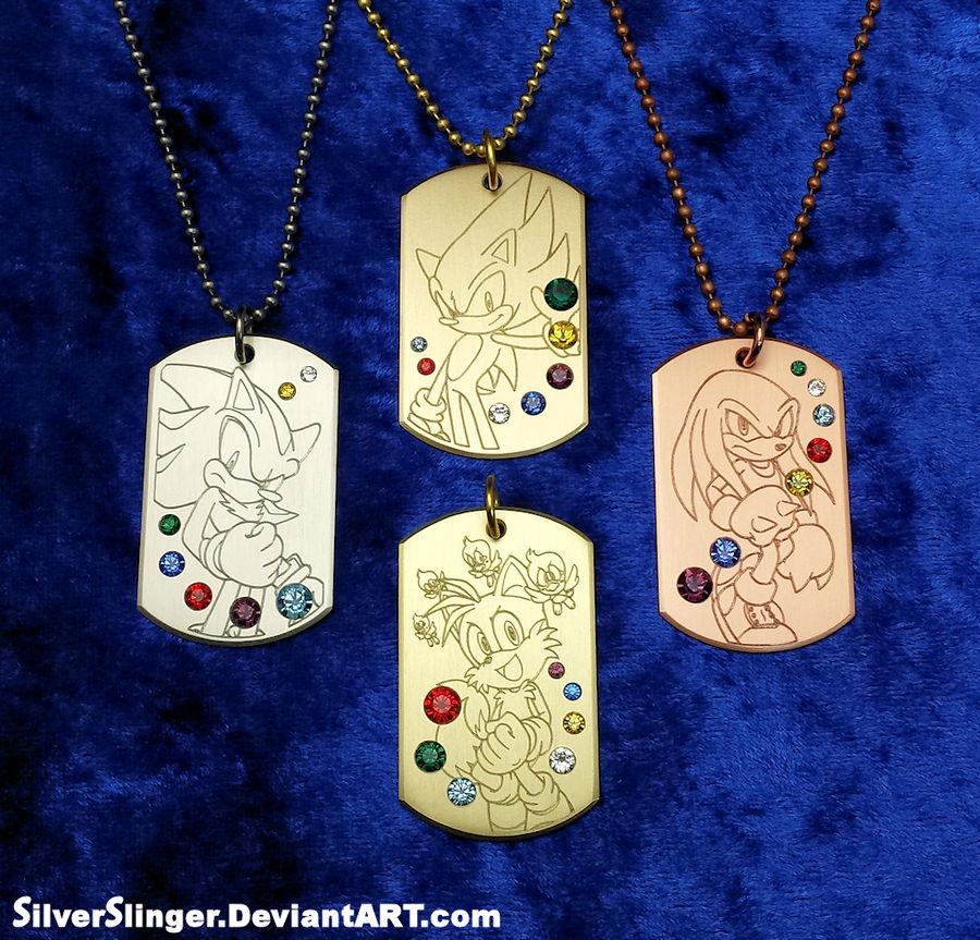 Seven Emeralds Pendant Series by SilverSlinger