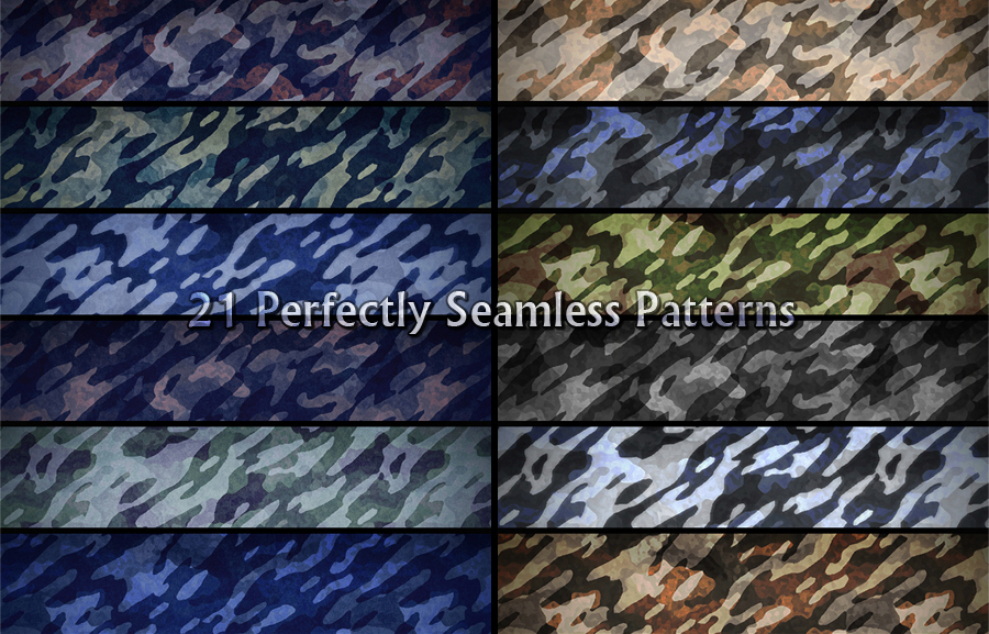 Camouflage Seamless Patterns by martinemes
