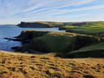 Cliffs and Pennan Bay