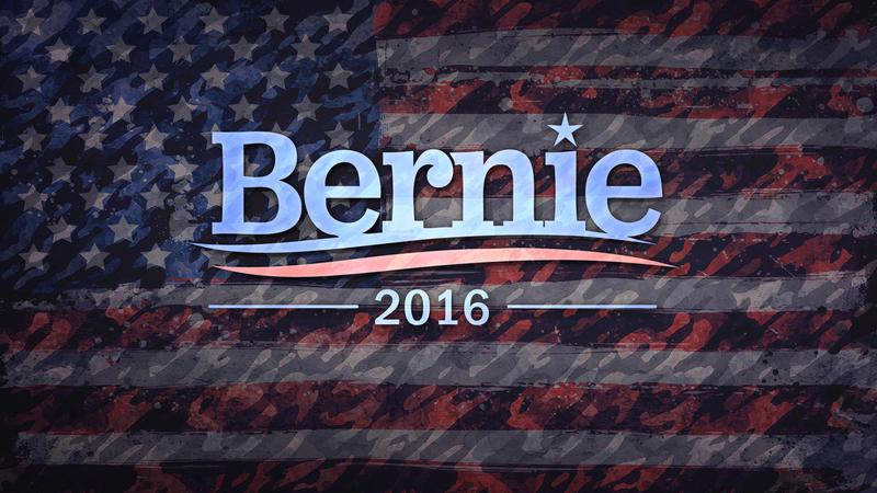 Bernie 2016 - Free Background by martinemes