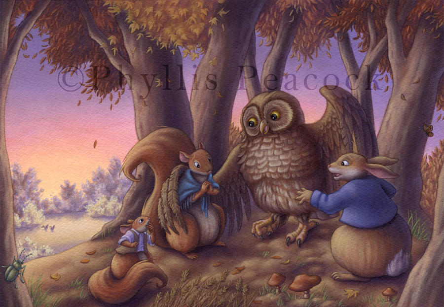 Little Lost Squirrels II by Red-Clover