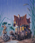 Turtlehouse in the Rain