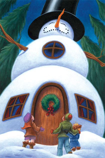 Snowman House by Red-Clover
