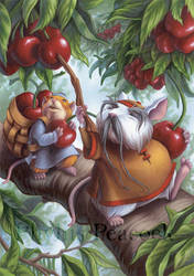 Cherry-picking Mice by Red-Clover