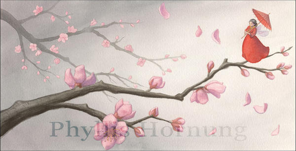 Cherry Blossom Fairy by Red-Clover