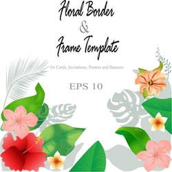 Floral border and frame background template