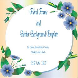 Floral Frame and Baorder Background templat