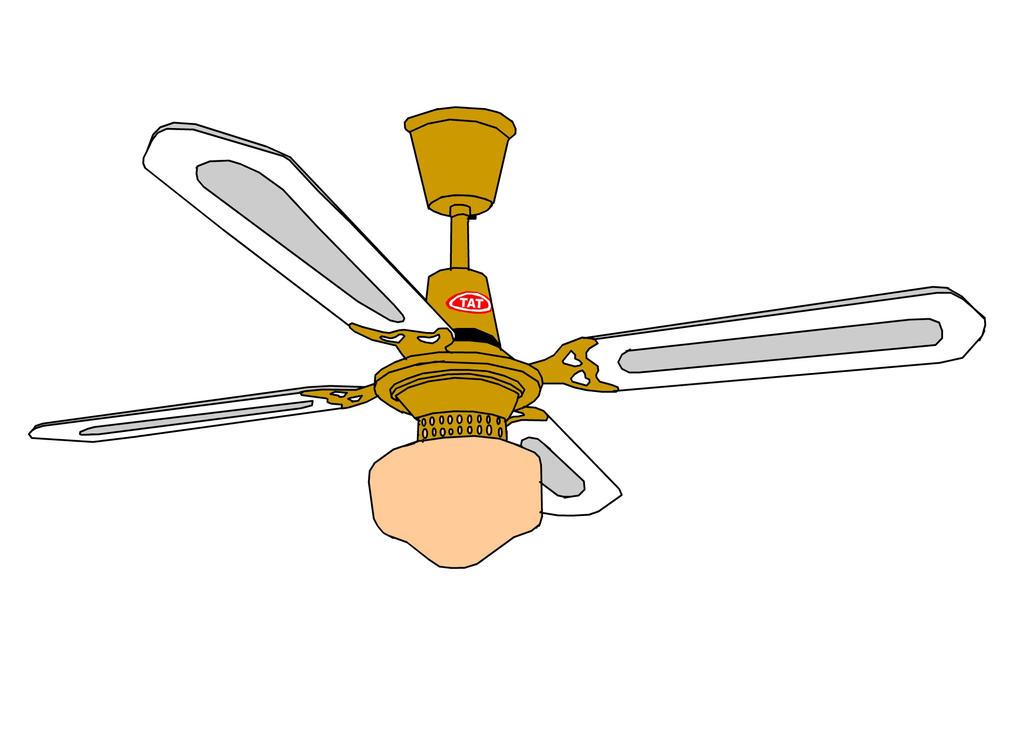 Brass Tat Ceiling Fan With Light By Jimma1300 On Deviantart