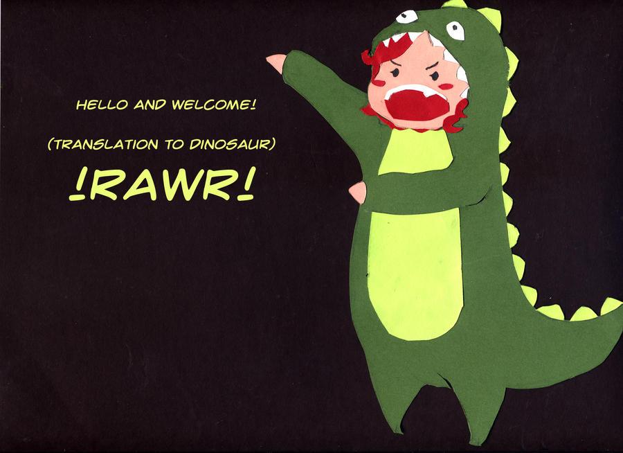 Hi I am a Dinosaur by battlepaint